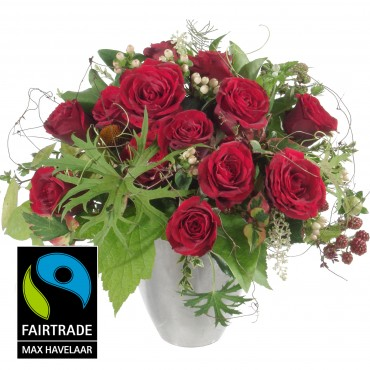 Romantic Dream, with Fairtrade Max Havelaar-Roses, big blooms