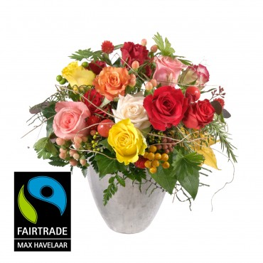 Bellissima ... with Fairtrade Max Havelaar-Roses, small blooms