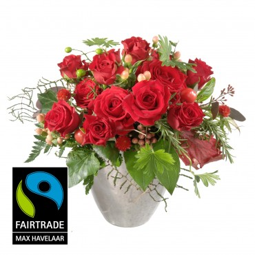 For my Sweetheart, with Fairtrade Max Havelaar-Roses, small blooms