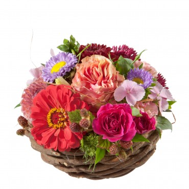Cute Basket of Flowers