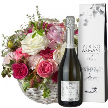 A  Basket full of Poetry with Prosecco Albino Armani DOC (75cl)