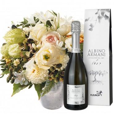 Bianca Flower Pearl with Prosecco Albino Armani DOC (75cl)