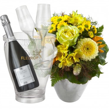 Happy Moments, with Prosecco Albino Armani DOC (75 cl), incl. ice bucket and two sparkling wine flut