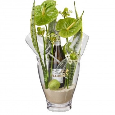 "Exotic Paradise: Prosecco Albino Armani DOC (75 cl) incl. ice bucket and two ""Connaisseur"" glasses"