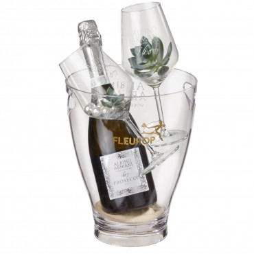 "Stylish: Prosecco Albino Armani DOC (75 cl) incl. ice bucket and two ""Connaisseur"" glasses"