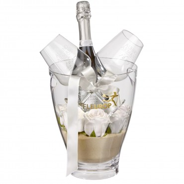 "For the One Moment: Prosecco Albino Armani DOC (75 cl) incl. ice bucket and two ""Connaisseur"" glasse"