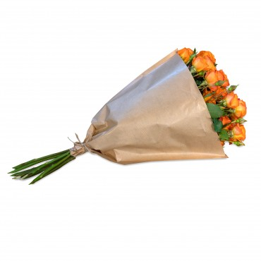 Bundle of orange Polyantha Roses