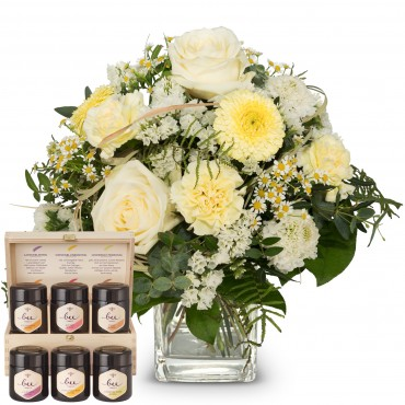 Natural lightness with honey gift set