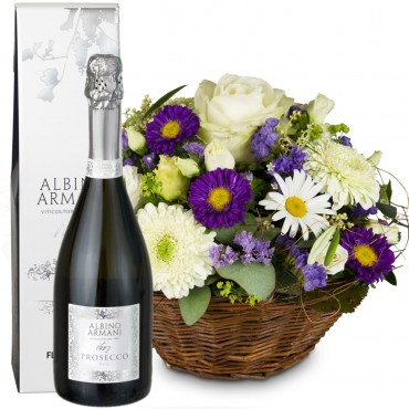 Beautiful Summer Basket with Prosecco Albino Armani DOC (75cl)