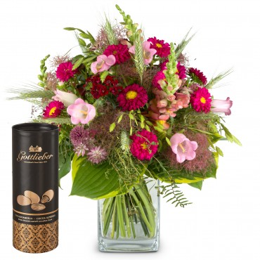 Flower Kiss with Gottlieber cocoa almonds