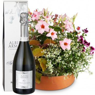 Loving Outdoor Flower Bowl with Prosecco Albino Armani DOC (75cl)