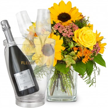 Summer Festival with Prosecco Albino Armani DOC (75 cl), incl. ice bucket and two sparkling wine flu