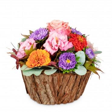 Cute Basket of Flowers