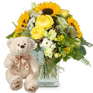 Summerdream with teddy bear (white)
