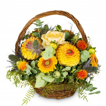 Natural seasonal basket