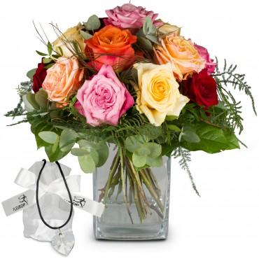Rose Dream with Swarovski® crystal heart