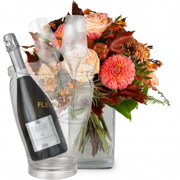 Dream of Indian Summer with Prosecco Albino Armani DOC (75 cl), incl. ice bucket and two sparkling w
