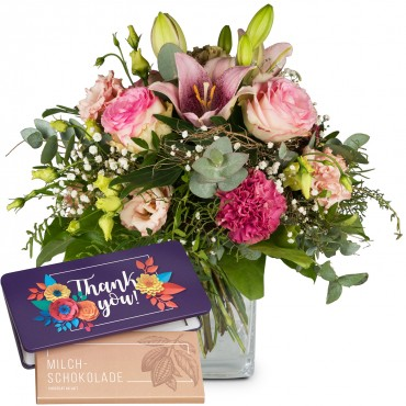 """Lily Magic with bar of chocolate """"Thank you"""""""
