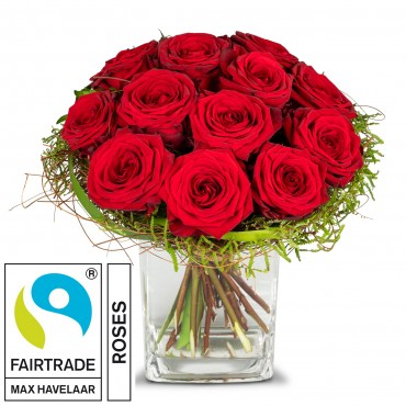 Small Pearl of Roses with Fairtrade Max Havelaar-Roses
