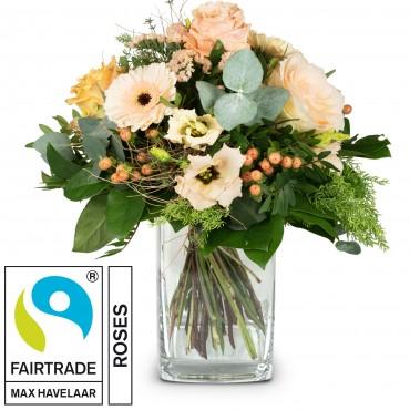 Delicate Seasonal Bouquet with Fairtrade Max Havelaar-Roses