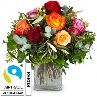 Bellissima with Fairtrade Max Havelaar-Roses