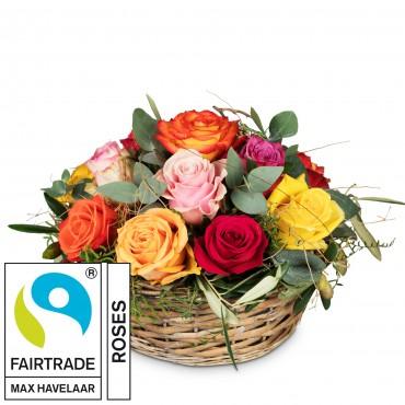 A Basket Full of Fairtrade Max Havelaar-Roses