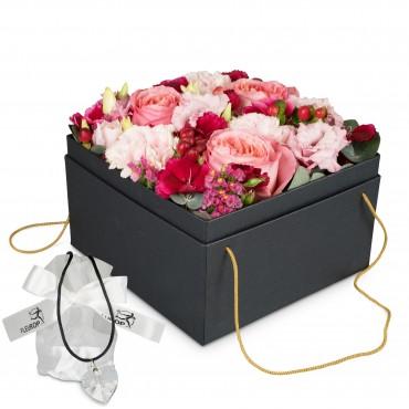 Flowerbox «Seville» (20 cm) with Swarovski® crystal heart