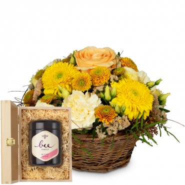 Bright Surprise with Delicate Flowers with Swiss blossom honey