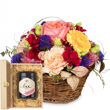 Melody of Color with Delicate Flowers with Swiss blossom honey