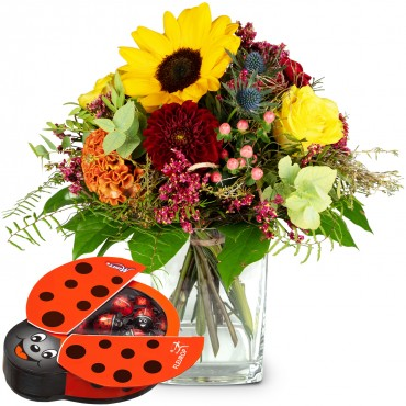 Colors of Summer with chocolate ladybird