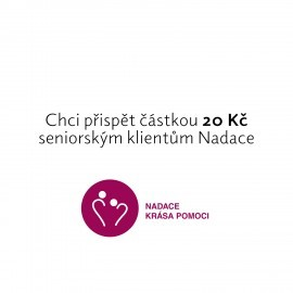 Contribution of CZK 20 to the project helping the elderly