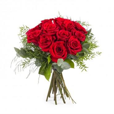12 Short-stemmed Red Roses