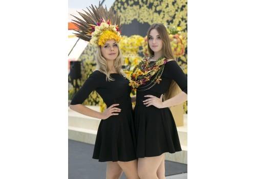 Floristická show naživo při představení značky Fleurop v CZ