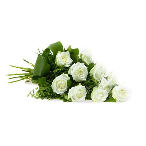 Levně Květiny smuteční bílé růže