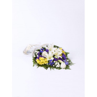 MIXED FLOWERS IN CELLOPHANE - FUNERAL