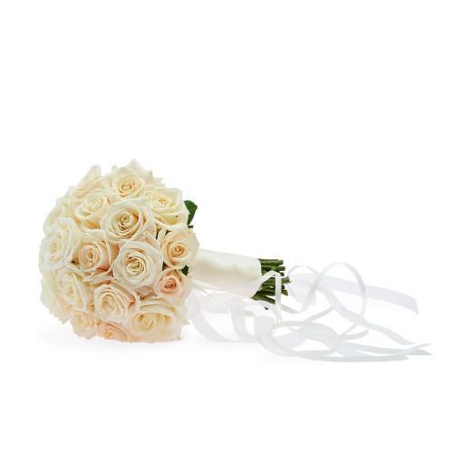 Levně Svatební romantická kytice z růží champagne