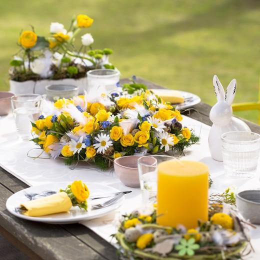 Velikonoční květinové dekorace